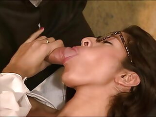 Doctor fucks his hairy assistant Francesca, upscaled to 4K brunette tukif blowjob