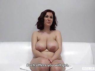 Karolina with big natural tits at Czech casting handjob tukif amateur