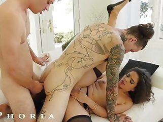 BiPhoria - Wife Catches Husband With Male Lover blowjob tukif anal