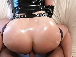 Redhead with big tits in latex gives blowjob & gets fucked blowjob tukif anal